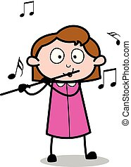 Playing flute Clipart Vector and Illustration. 2,096 ...