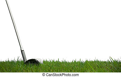 playing golf with white background