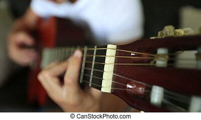 playing guitar 5 - young boy playing guitar