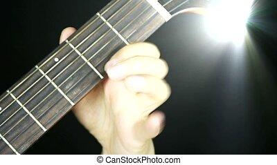 playing guitar,strum,disco rays
