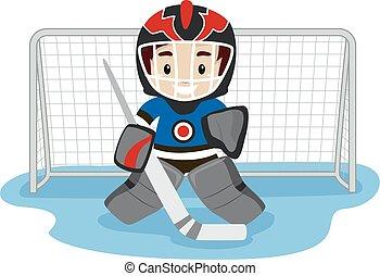 Playing Ice Hockey Player