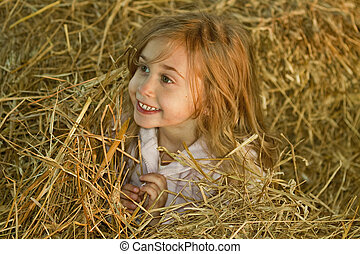 Playing In Hay