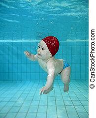 Playing in the swimmingpool