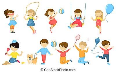 Playing kids set.