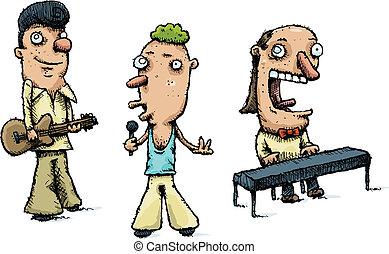 Playing Music Band