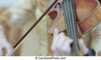 Playing on the cello