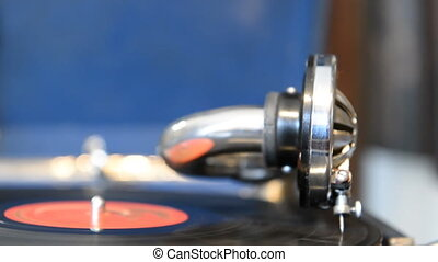 Playing on the old gramophone recor