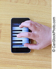 Playing piano on modern touch screen phone