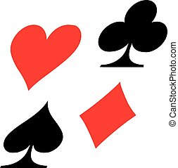 Playing poker cards icons