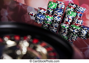 Playing roulette in the casino