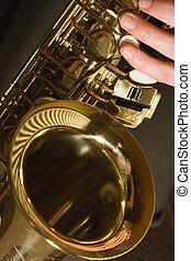 Playing Sax - saxophone