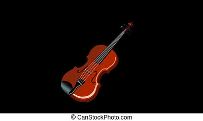 Playing the Violin Animation with Alpha Channel - Violin...