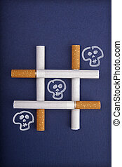 Playing tic tac toe with the death – Smoking metaphor