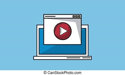 Playing video from laptop HD animation