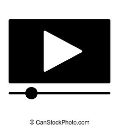 Playing video silhouette icon. Vector illustration