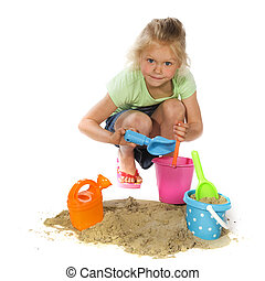 Playing with sand