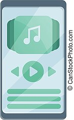 Playlist icon. Cartoon of playlist vector icon for web design isolated on white background