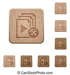 Playlist tools wooden buttons