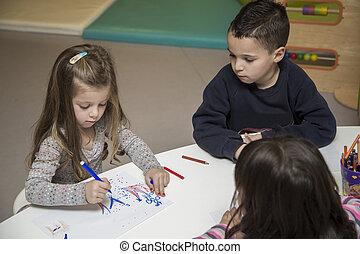 playroom, crianças, desenho