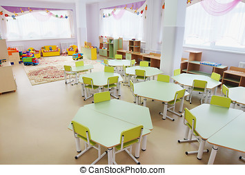 Playroom in a kindergarten