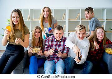 playstation, friends, spielende
