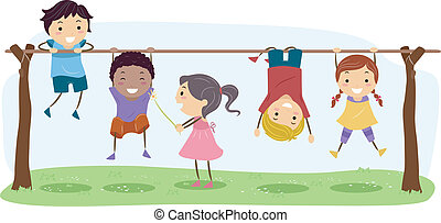 Playtime - Illustration Featuring Kids Playing