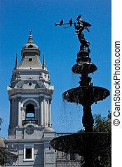 (plaza, armas), de, リマ, アメリカ, 南, ペルー