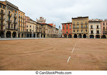 plaza burmistrzują, vic, katalonia