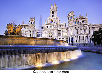 plaza cibeles, madrid, spain.