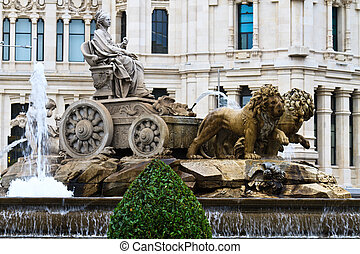 Plaza de Cibeles Fountain, Madrid, Spain