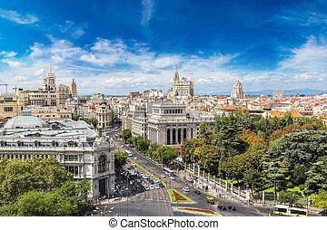 Plaza de Cibeles in Madrid - Aerial view Plaza de Cibeles in...