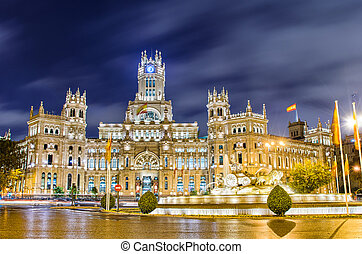 Plaza de Cibeles, Madrid, Spain - Plaza de Cibeles with the ...