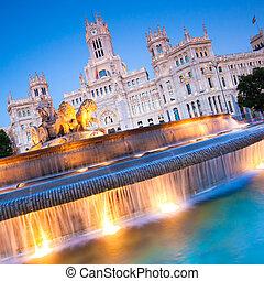 Plaza de Cibeles, Madrid, Spain.