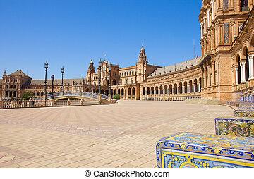 Plaza de España, in Seville, Spain