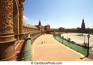 Plaza de Espana in Seville, Andalucia, Spain