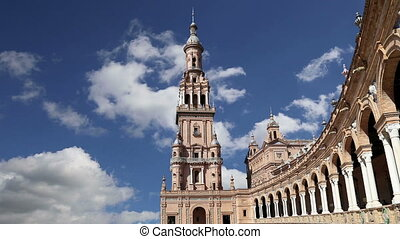Plaza de Espana in Seville, Spain - Buildings on the Famous ...