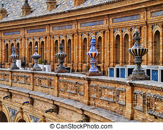 Plaza de Espana in Seville, Spain - Ceramic Detail of...