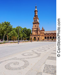 Plaza de Espana in Seville, Spain