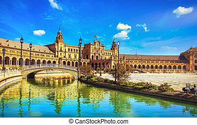 Plaza de espana Seville, Andalusia, Spain, Europe