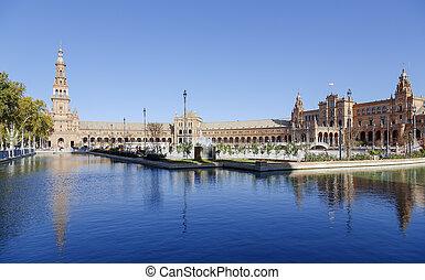 Plaza de Espana - Spanish Square in Seville, Spain
