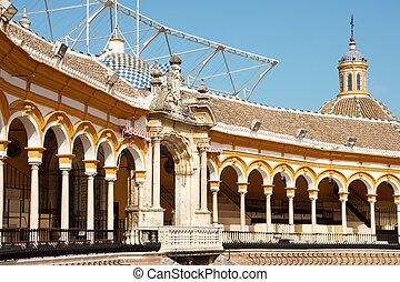 Plaza de toros de la Real Maestranza in Seville - Detail of...