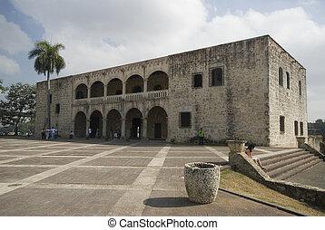 plaza, domingo, dominicano, la, de, república, santo, hispanidad