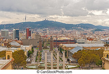 Plaza Espanya, Barcelona, Spain. - Barcelona, Spain-November...