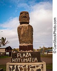 Plaza Hotumatua Moai