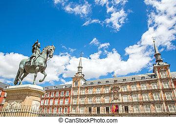 Plaza Mayor Madrid - Plaza Mayor in Madrid , Spain