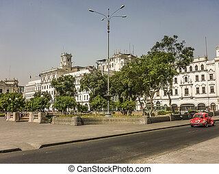 Plaza San Martin in Lima Peru