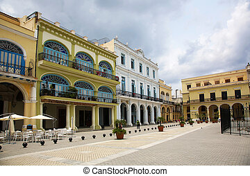 Plaza Vieja Havana Cuba - Old Square, Plaza Vieja, is...