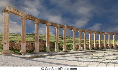 plaza)in, jordan, (oval, gerasa, forum