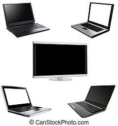 plazma, laptopy, odizolowany