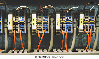 PLC Wires Connecting to Control Panel